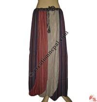 Patchwork khaddar long skirt