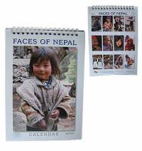 Faces of Nepal desktop calendar