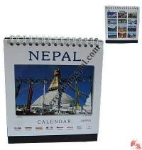 Tiny size Nepal desktop calendar