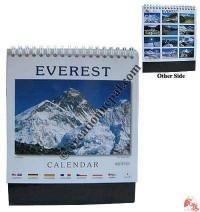 Small size Everest desktop calendar