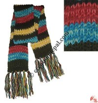 Colorful stripes muffler