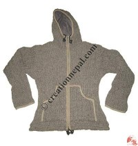 Stretched woolen jackets - grey