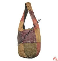 Bottom round patch-work stone wash Lama bag2