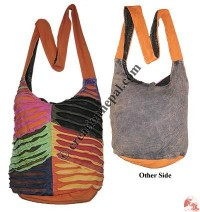 Layer cut design rib lama bag