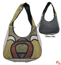 Stupa design hemp bag