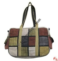 Patch-work rectangle shape bag