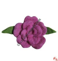 Small size rose design felt brooch