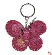 Butterfly felt key ring