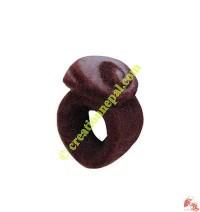 Spiral design felt finger ring