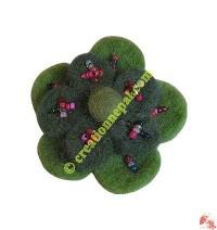 2-flower with beads felt tic-tic hair clip