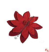 2-step large felt flower hair band