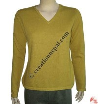 Ladies V-neck Pashmina sweater