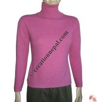Ladies High-neck sweater1