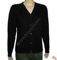Ladies V-neck cardigan sweater2