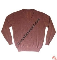 Gents V-neck squares design Pashmina sweater2