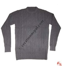 Gents round-neck Pashmina sweater3