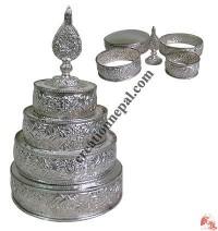 Silver plated mandala