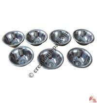 Steel offering bowl set