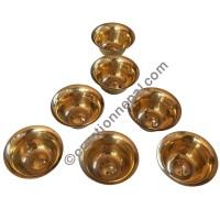 Plain brass offering bowls set