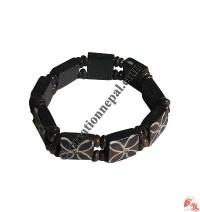 Flower design bone bracelet