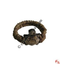 Turtle 2-strand beads wristband