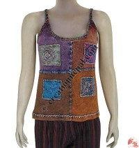 Four signs patch-work tank top