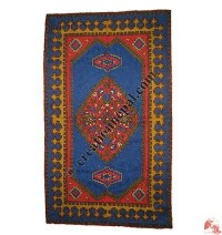 Wool embroidered rug