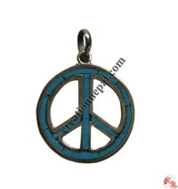 Medium size peace sign pendant