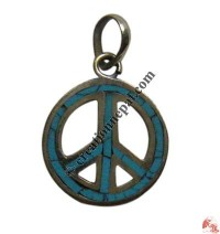 Small size peace sign pendant