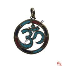 Round Sanskrit OM pendant