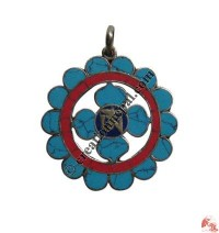 Flower Tibetan Om pendant3