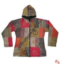 Hand emb khaddar patch-work jacket