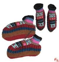 Adult size woolen indoor socks