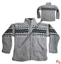 Woolen hand knitted jacket