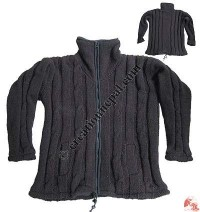 Dark brown Nagbeli woolen jacket