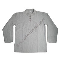 Hemp-cotton Kurtha shirt