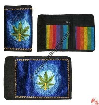 Embroidered large size gheri wallet