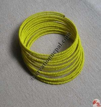 Glass beads wire bangle 5