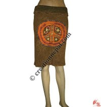 Rib big peace mini-skirt