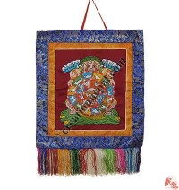 Wheel of life brocade wall hanging