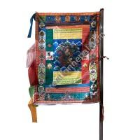 Shining vertical prayer flag