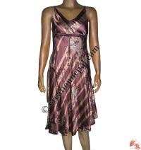 Silk satin halter dress