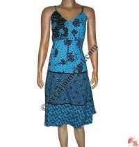 Circular printed cotton dress