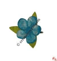 Turquoise flower hair clip