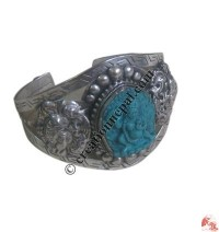Manjushree white metal bangle