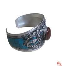 1 - Stone white metal bangle3