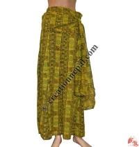 Printed cotton string design long skirt