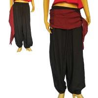 Side string design cotton harem trouser1