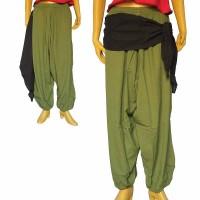 Side string design cotton harem trouser3