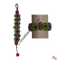 Tiny balls flower felt bracelet